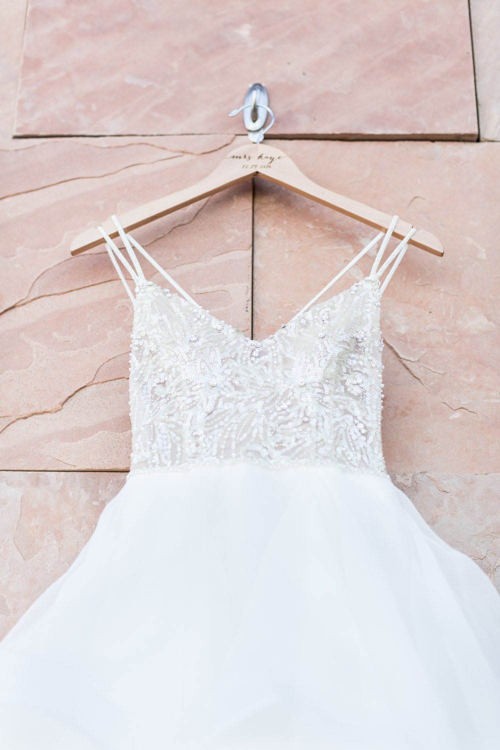 Watters wedding gown with sparkles and beading with tulle large skirt from Couture Bride Las Vegas, Cavin Elizabeth Photography