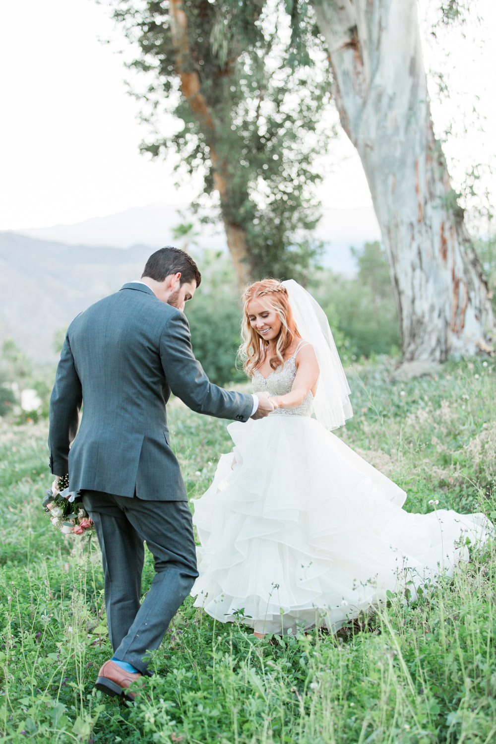 Indian Wells sunset bride and groom portraits, Cavin Elizabeth Photography