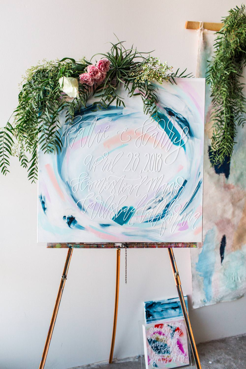 Custom Wedding Art: Wedding Decor You Can Keep for Your Home by Samantha Louise Designs, colorful wedding art, Cavin Elizabeth Photography