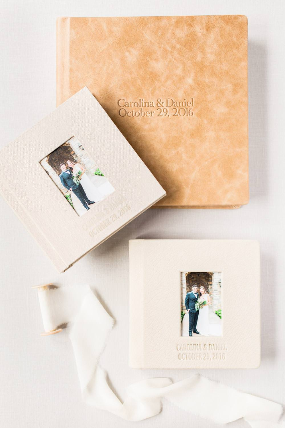 Neutral Tan Redtree Albums Gorgeous Wedding Album Collection from Cavin Elizabeth Photography