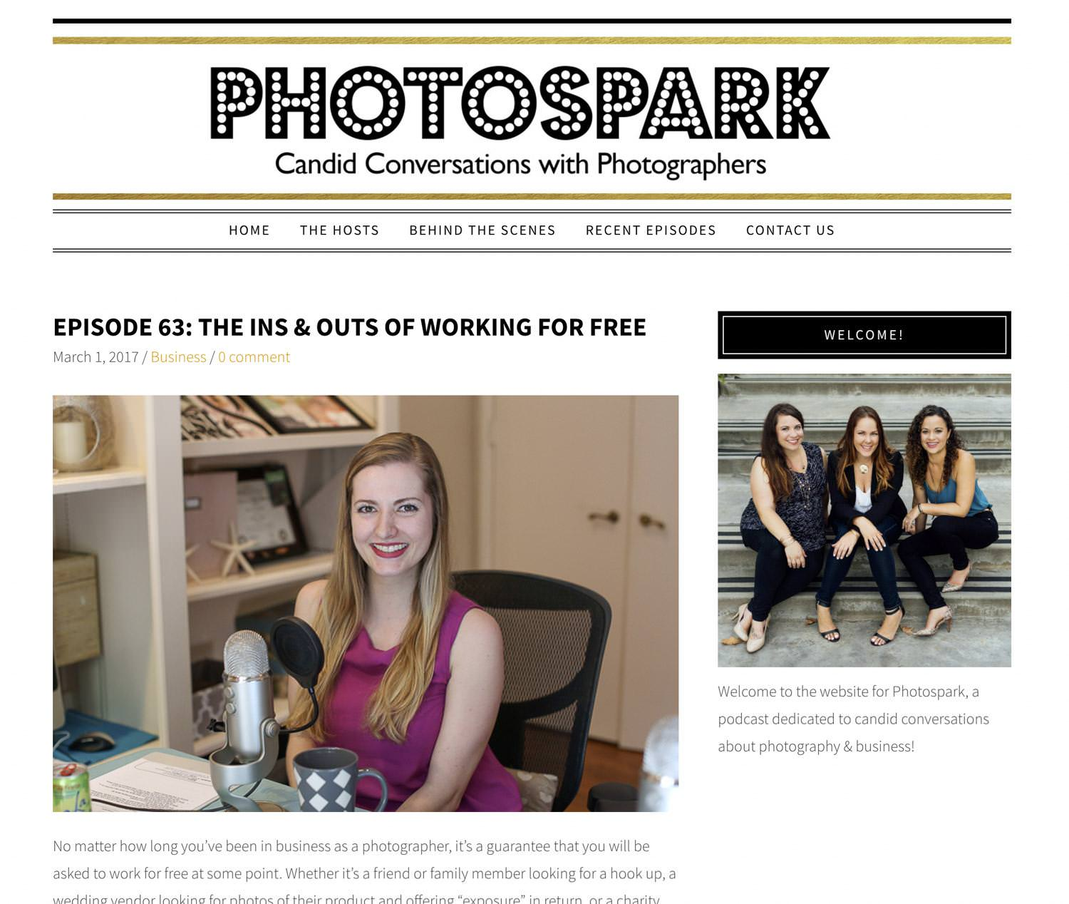 Featured as a Speaker on PhotoSpark Show Podcast