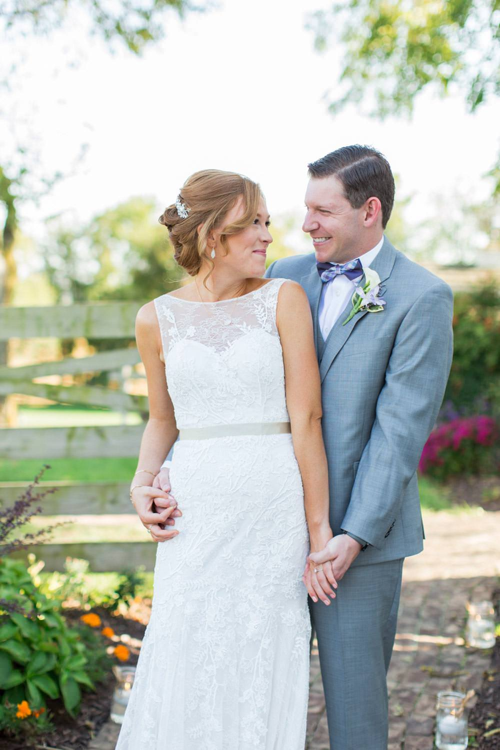 Beautiful candid and sweet first look with the bride and groom for a Maryland wedding, Cavin Elizabeth Photography