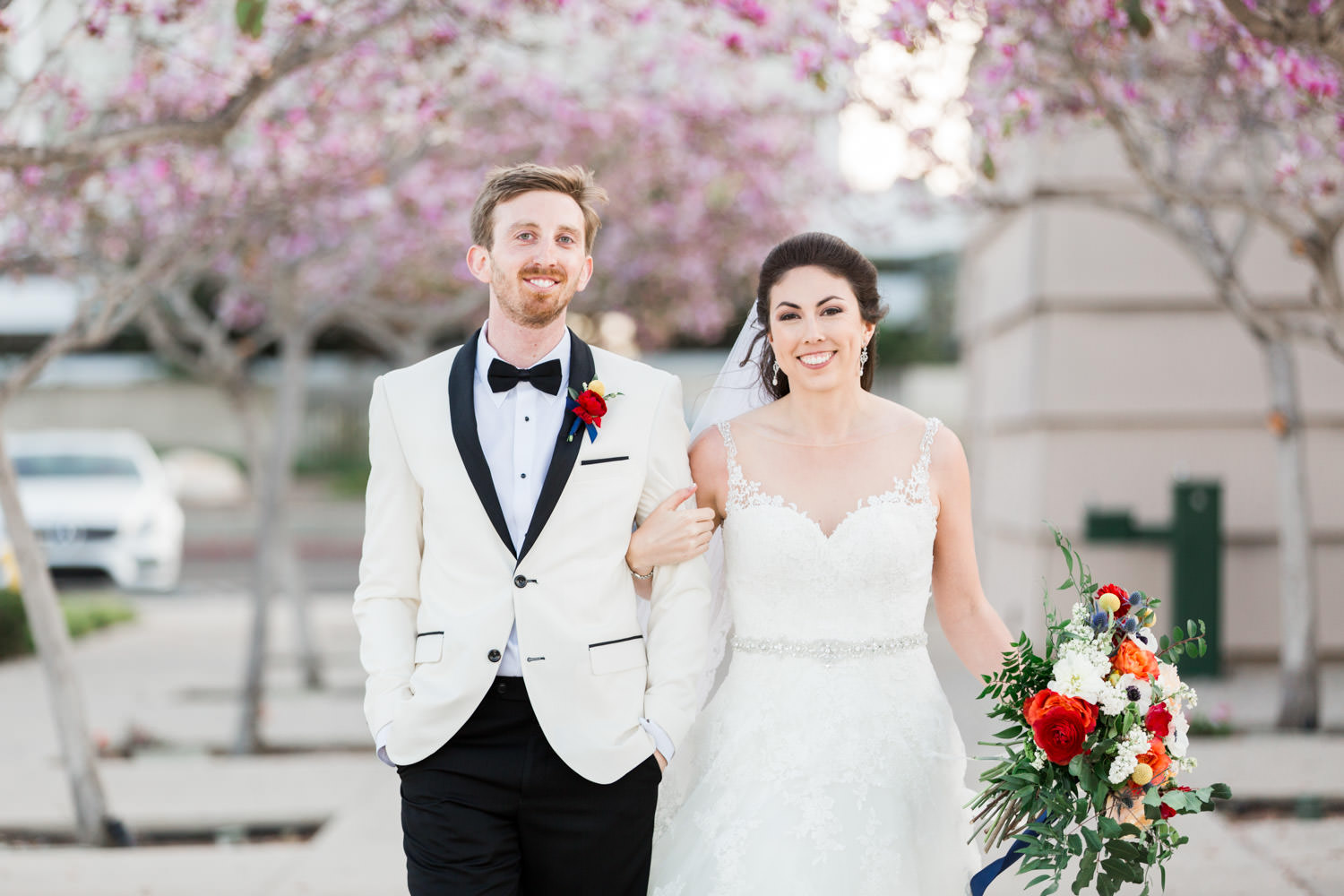 Coronado Community Center Wedding bride and groom, Cavin Elizabeth Photography