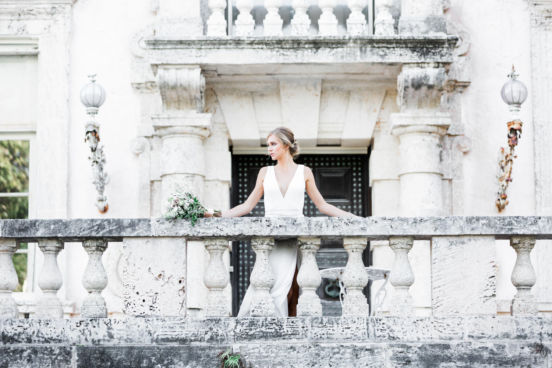 Fine art Miami Vizcaya Wedding Photography, Cavin Elizabeth Photography, bridal portrait with bouquet