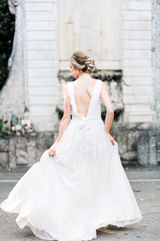 Fine art Miami Vizcaya Wedding Photography, Cavin Elizabeth Photography, bridal portrait running