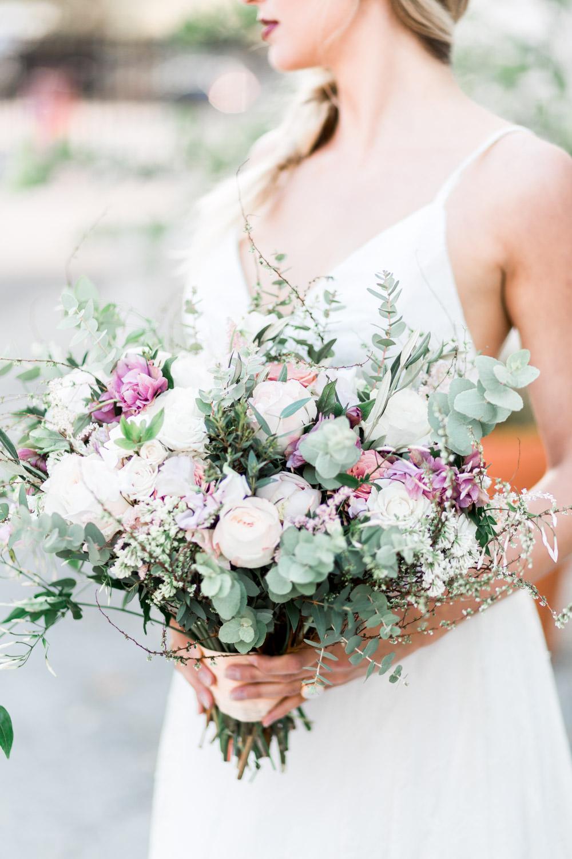 Fine art Miami Vizcaya Wedding Photography, Cavin Elizabeth Photography, bridal portrait with bouquet from Julia Rohde Designs
