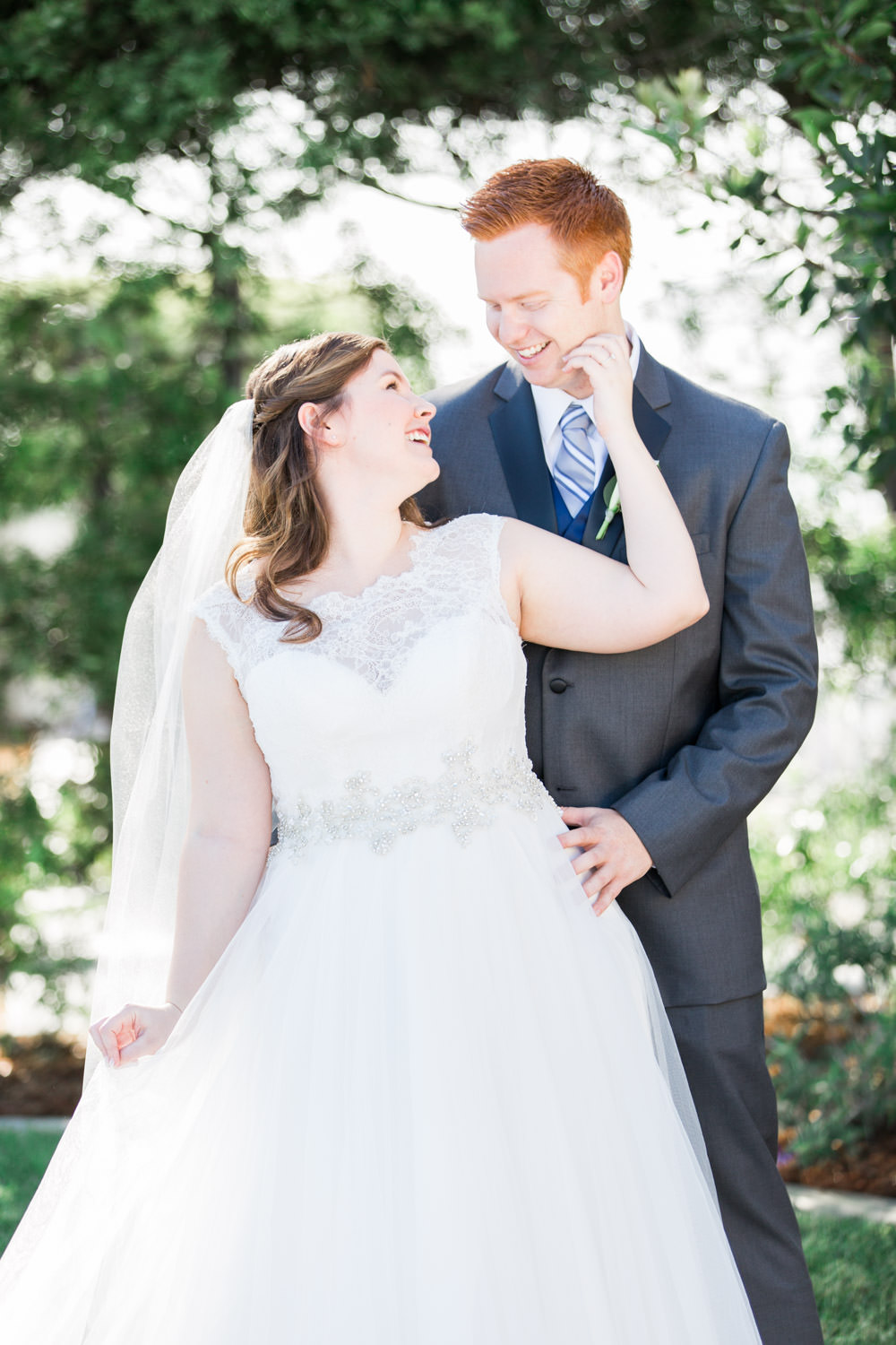 Bride and groom portraits for a brunch wedding at Tom Ham's Lighthouse, Cavin Elizabeth Photography