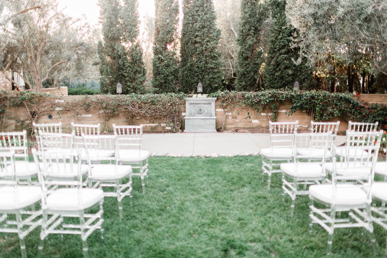 Wedding ceremony on the Olive Lawn at Estancia La Jolla, Cavin ELizabeth Photography