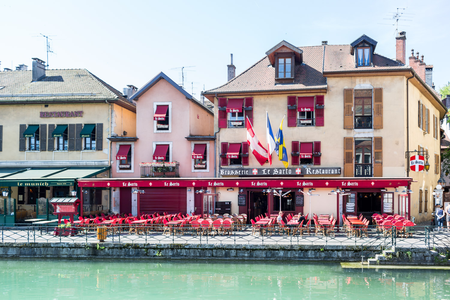 Annecy France canal and buildings, Cavin Elizabeth Photography