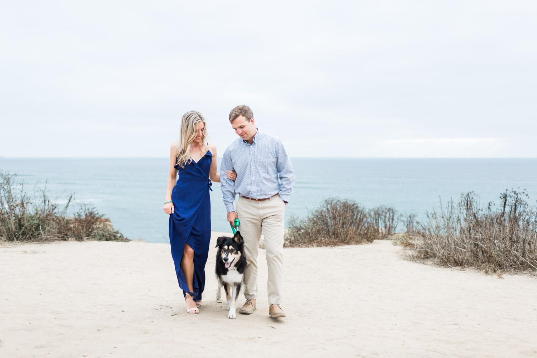 San Diego dog engagement, Gorgeous Sunset Cliffs Natural Park Engagement Photos, Cavin Elizabeth