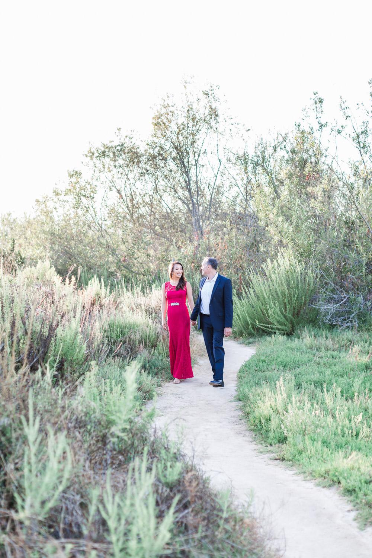 Dreamy Engagement Photos at San Elijo Lagoon in encinitas by Cavin Elizabeth