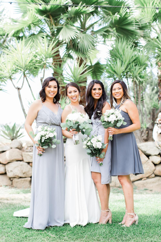 Bridal party at Mt Woodson Castle Wedding by Cavin Elizabeth