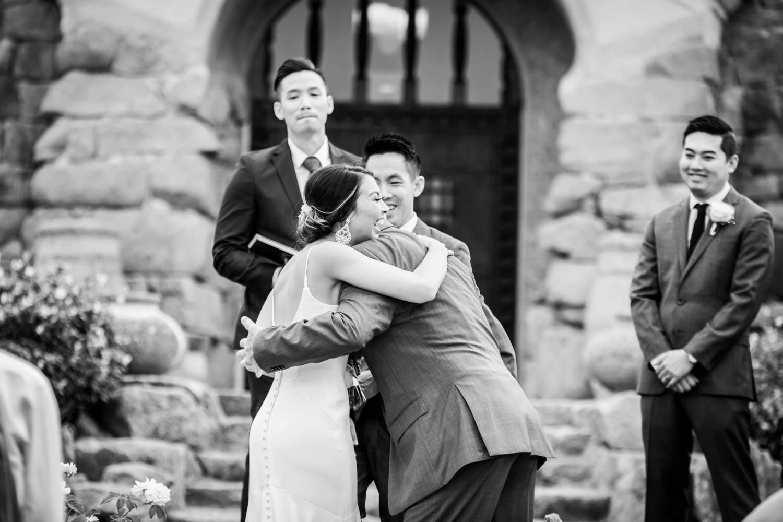 Ceremony at Mt Woodson Castle Wedding by Cavin Elizabeth