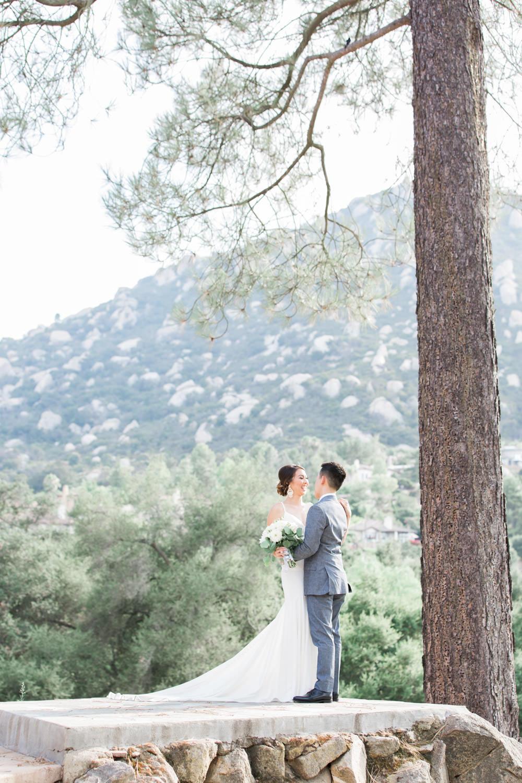 Bride and groom portraits at Mt Woodson Castle Wedding by Cavin Elizabeth