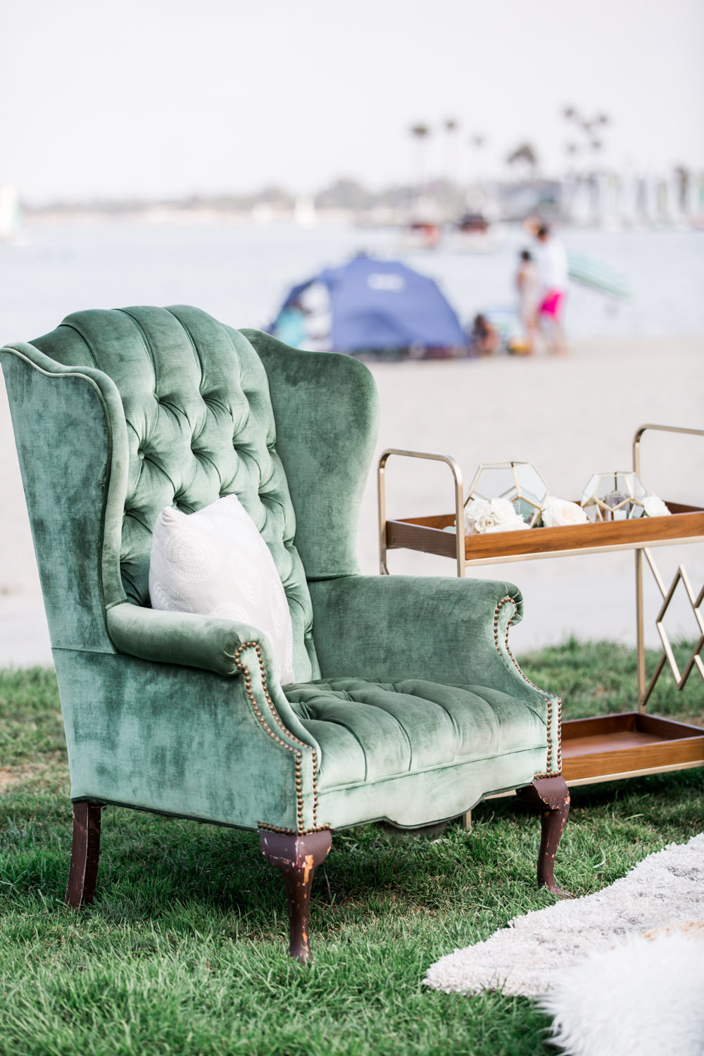 Wedding reception lounge, Intimate San Diego Catamaran Resort Wedding on Mission Bay by Cavin Elizabeth