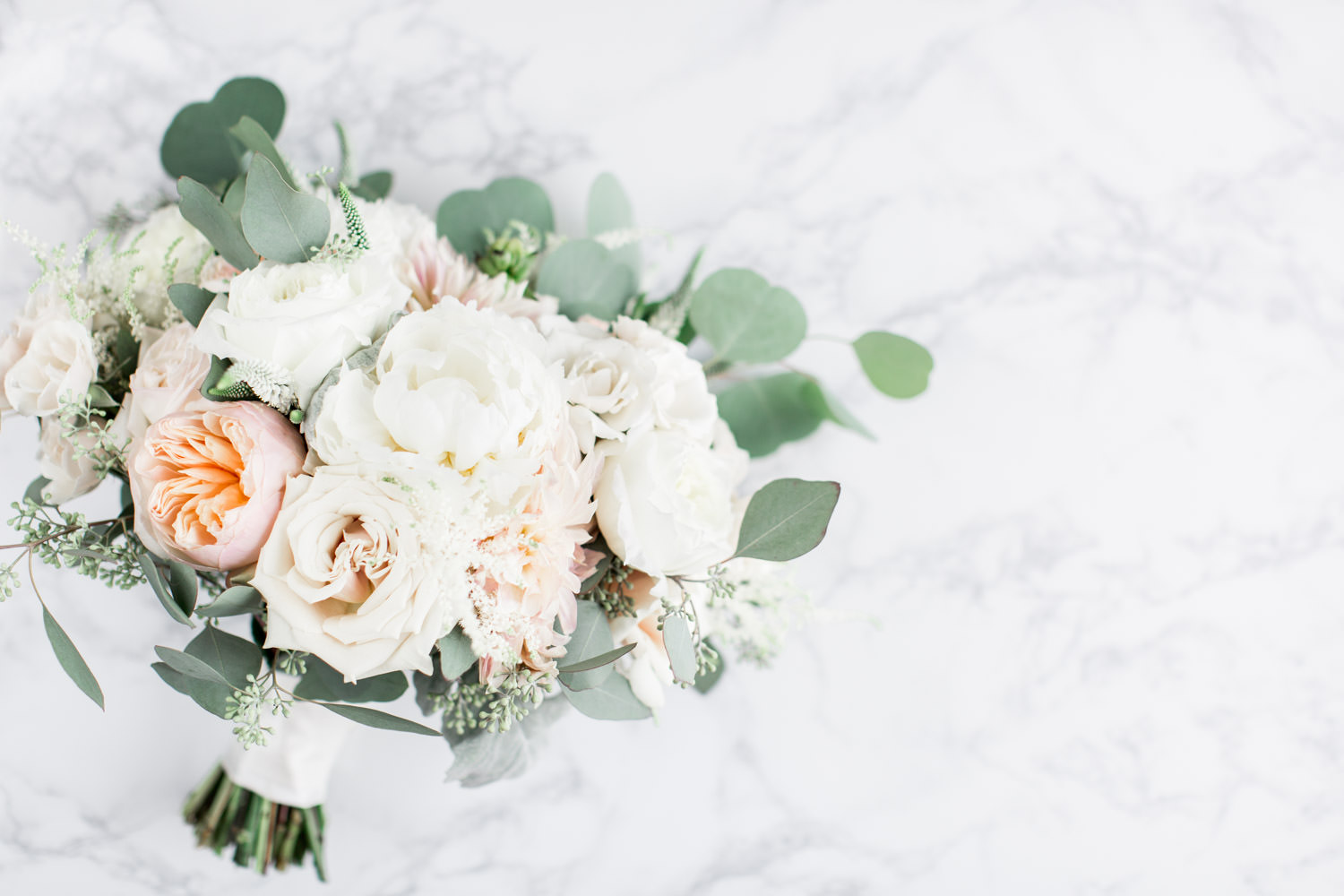 Organic Elements large bridal bouquet with white pink and green, Intimate San Diego Catamaran Resort Wedding on Mission Bay by Cavin Elizabeth