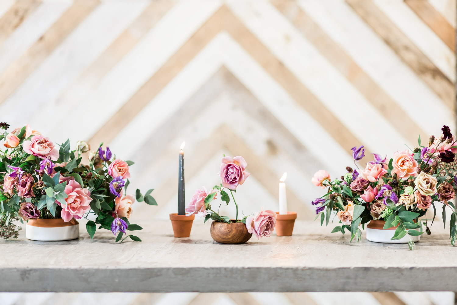Three Different Ways to Design Wedding Reception Tablescapes by Cavin Elizabeth Photography and Compass Floral at Luce Loft