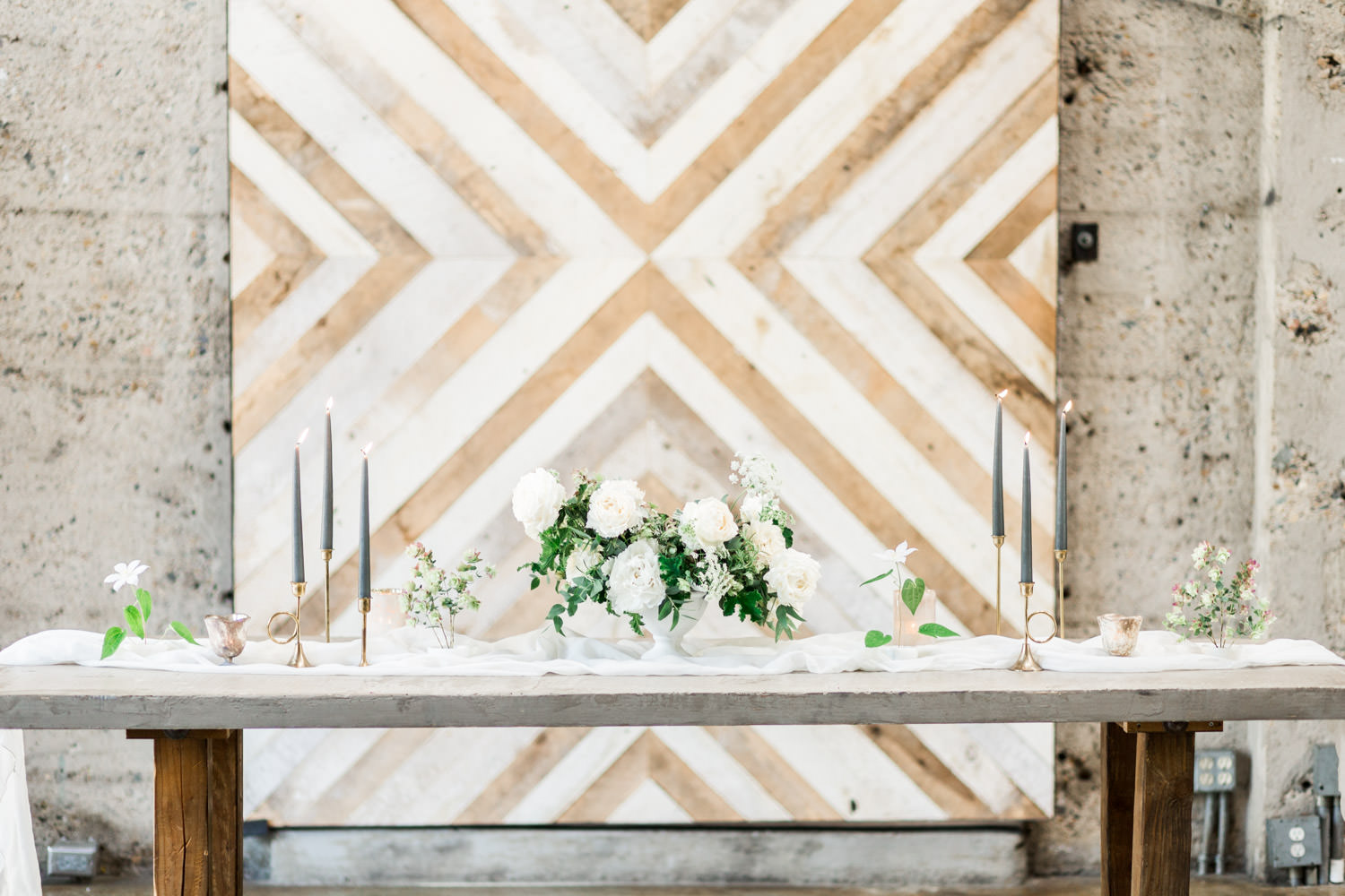 Wedding Reception Tablescapes at Luce Loft: 3 Different Designs
