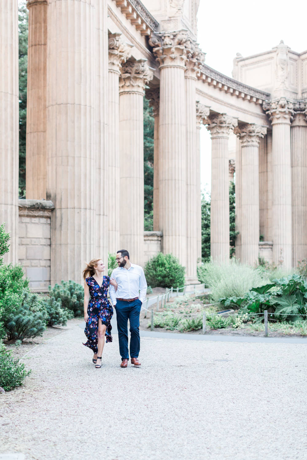 Palace of Fine Arts Engagement Photos by Cavin Elizabeth