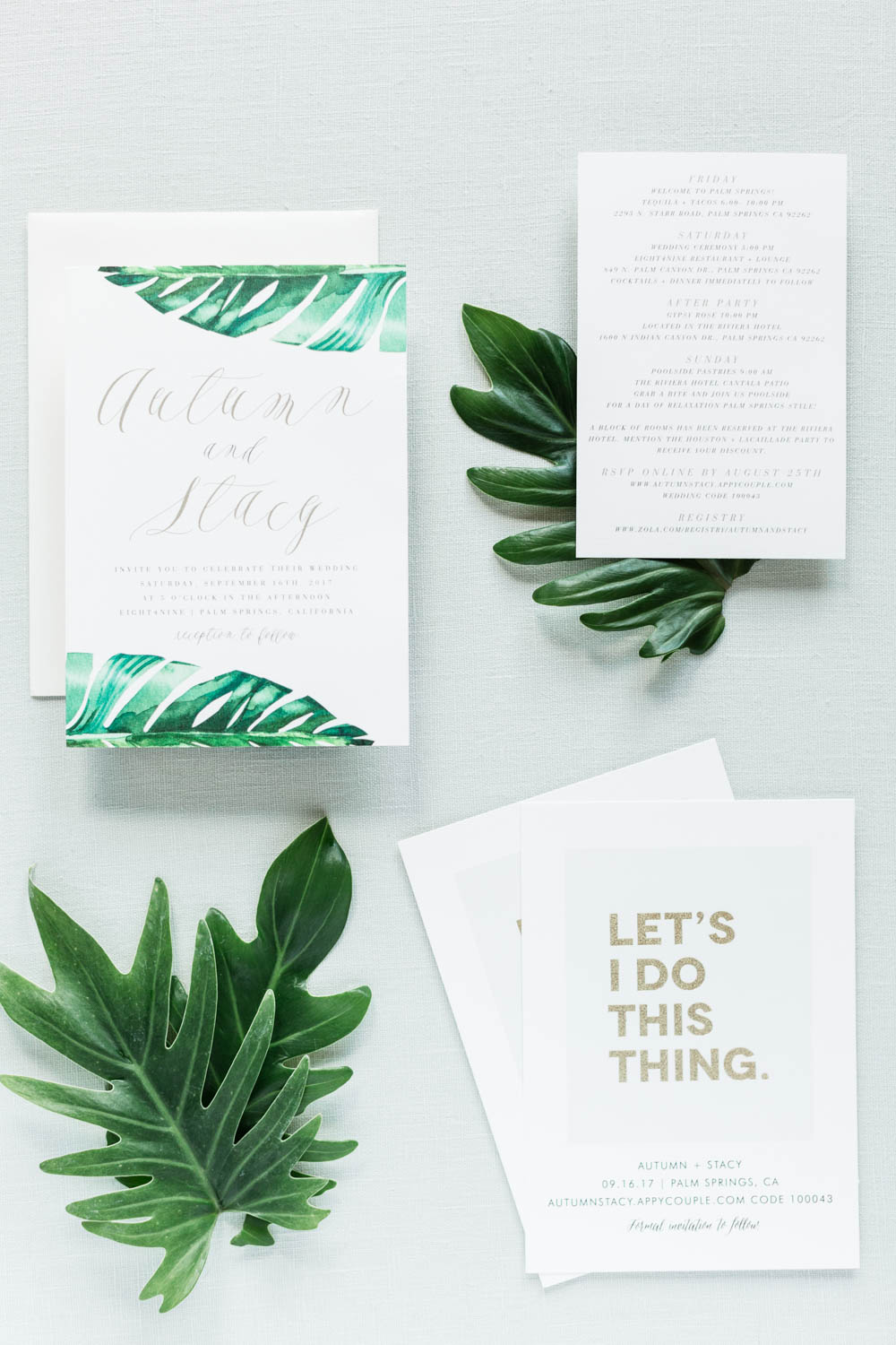 Tropical Citrus Press Co invitation suite, Cavin Elizabeth Photography