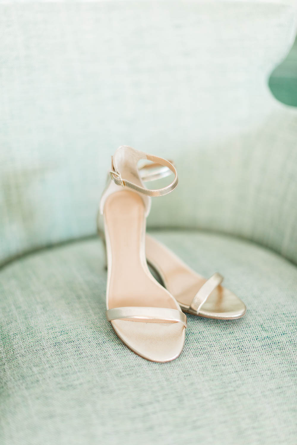 Gold strappy heels perfect for a chic Palm Springs bride, Cavin Elizabeth Photography