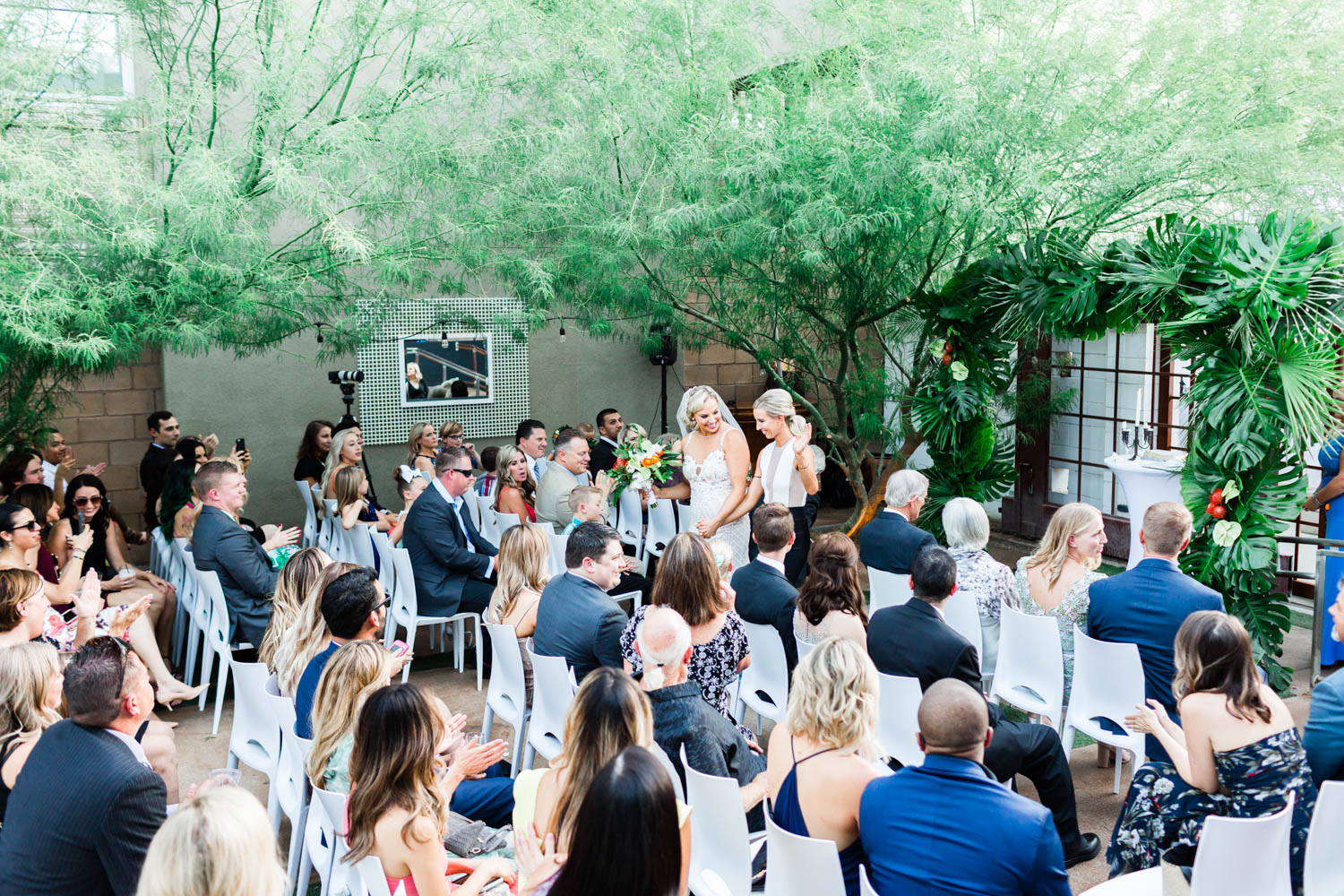 Eight4Nine Wedding in Palm Springs, 849 wedding in Palm Springs ceremony, Cavin Elizabeth Photography