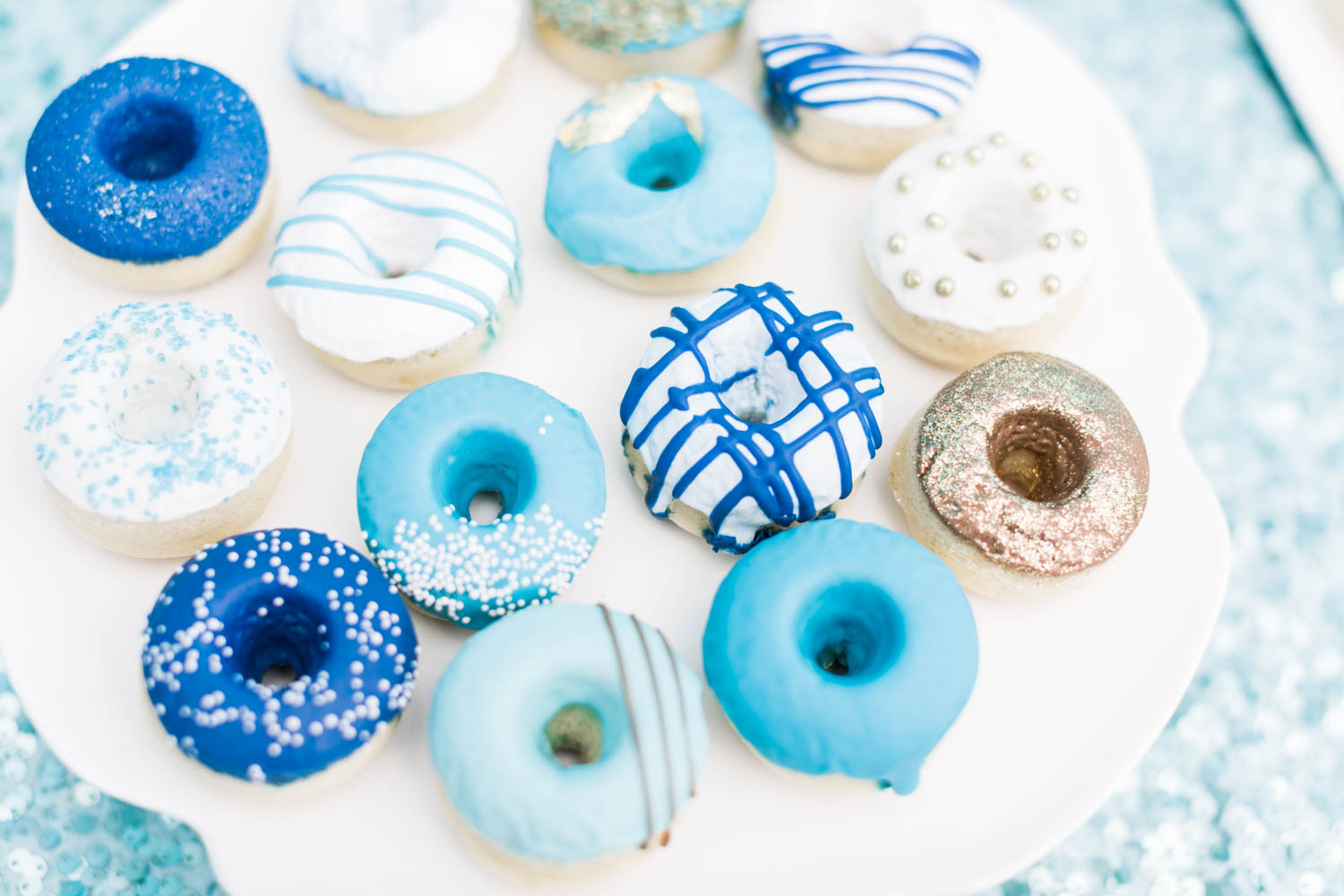 Mini donuts, Under the Sea 1st birthday party with blue white and sea colors, Montage Laguna Beach Birthday Party, Cavin Elizabeth Photography + Details Details + Shawna Yamamoto