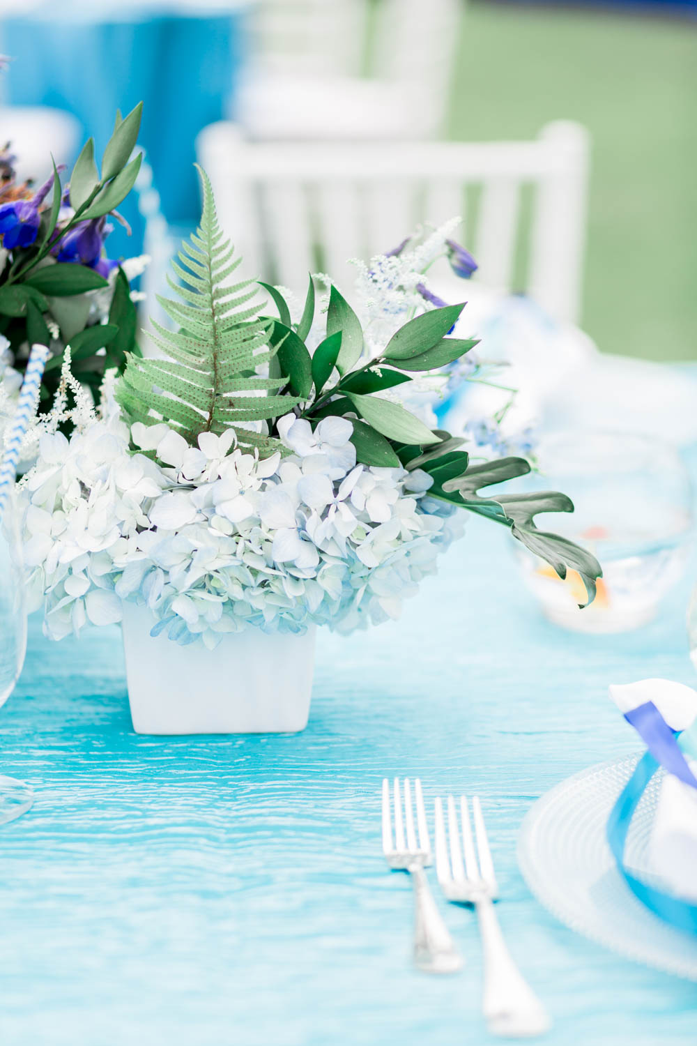 Under the Sea 1st birthday party with blue white and sea colors, Montage Laguna Beach Birthday Party, Cavin Elizabeth Photography + Details Details + Shawna Yamamoto