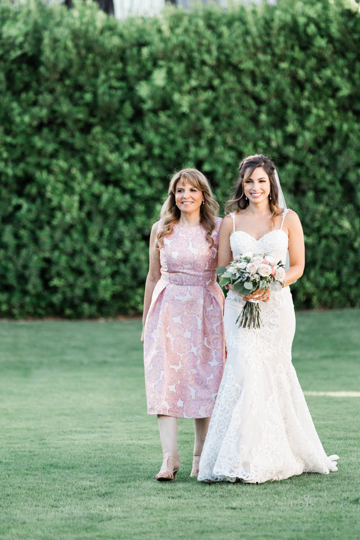 Wedding ceremony blush huppah at the Omni Rancho Las Palmas in Rancho Mirage Palm Springs, Cavin Elizabeth Photography