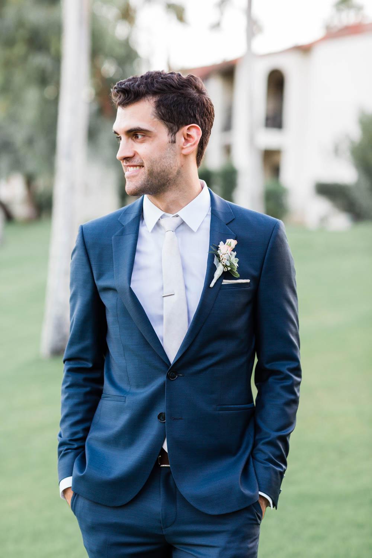 Omni Rancho Las Palmas wedding bride and groom portrait, Cavin Elizabeth Photography