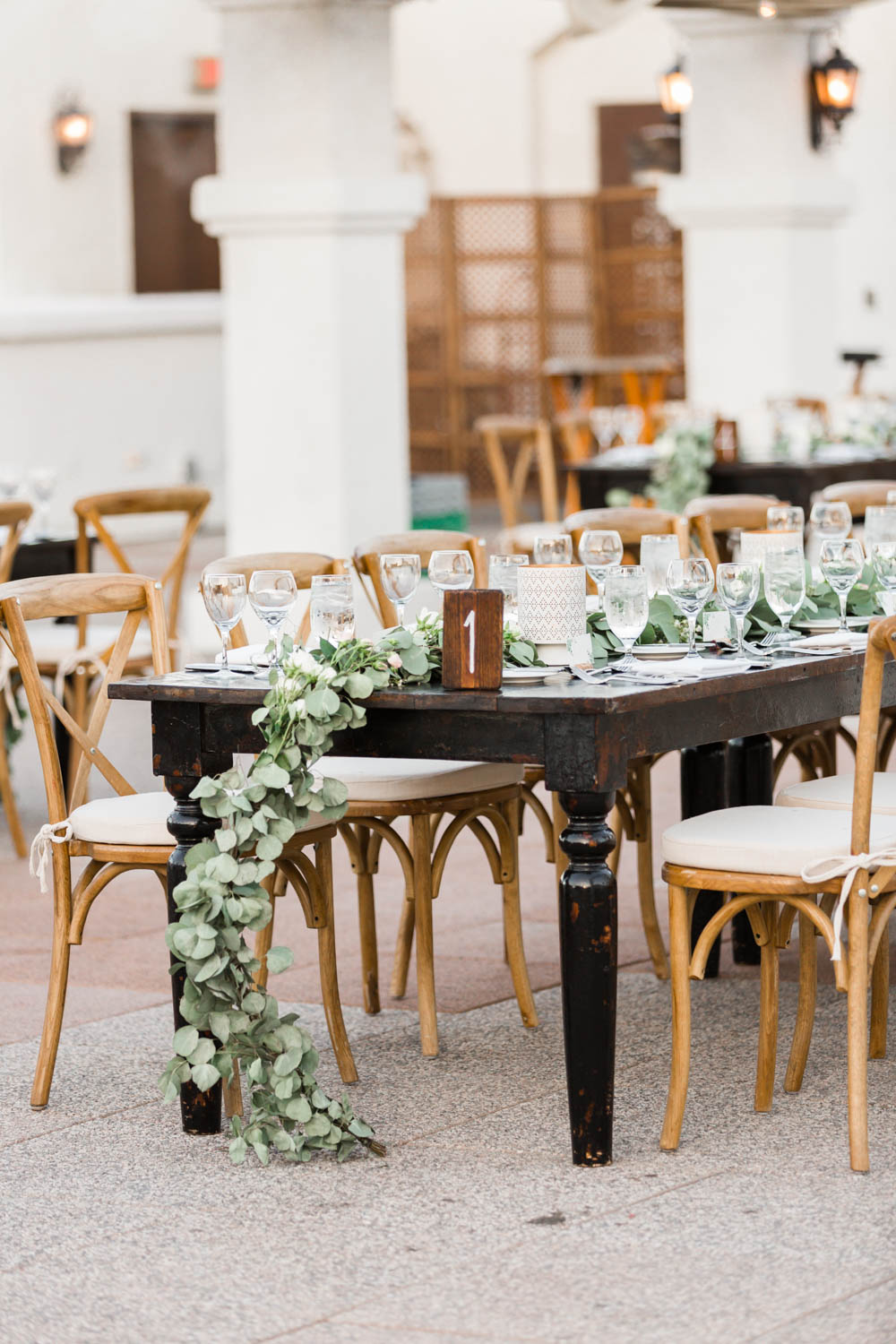 Wedding reception blush green white at the Omni Rancho Las Palmas in Rancho Mirage Palm Springs, Cavin Elizabeth Photography