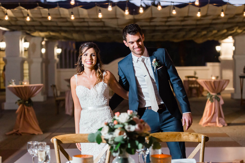 Wedding reception entrance at the Omni Rancho Las Palmas in Rancho Mirage Palm Springs, Cavin Elizabeth Photography