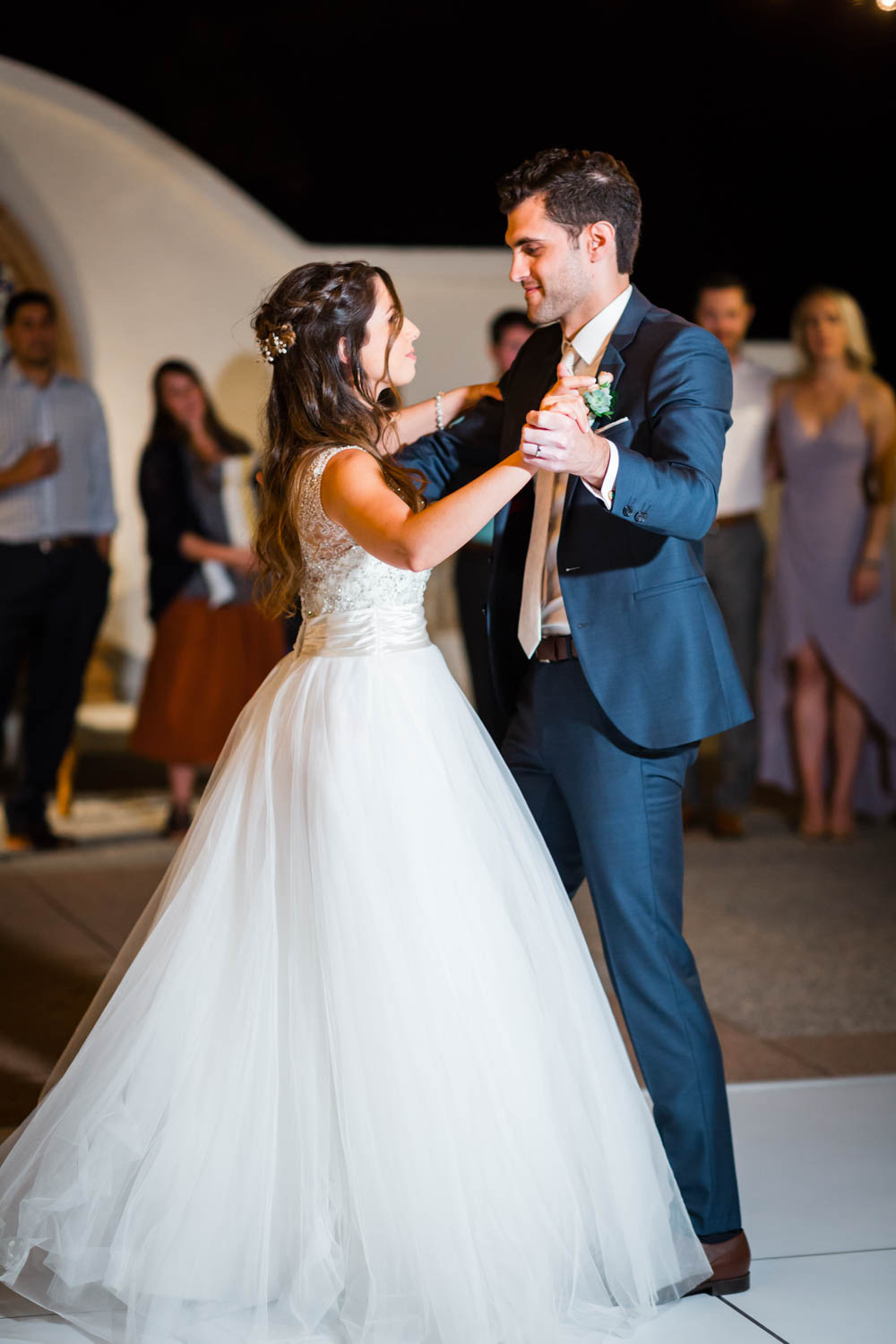 Wedding reception first dance at the Omni Rancho Las Palmas in Rancho Mirage Palm Springs, Cavin Elizabeth Photography
