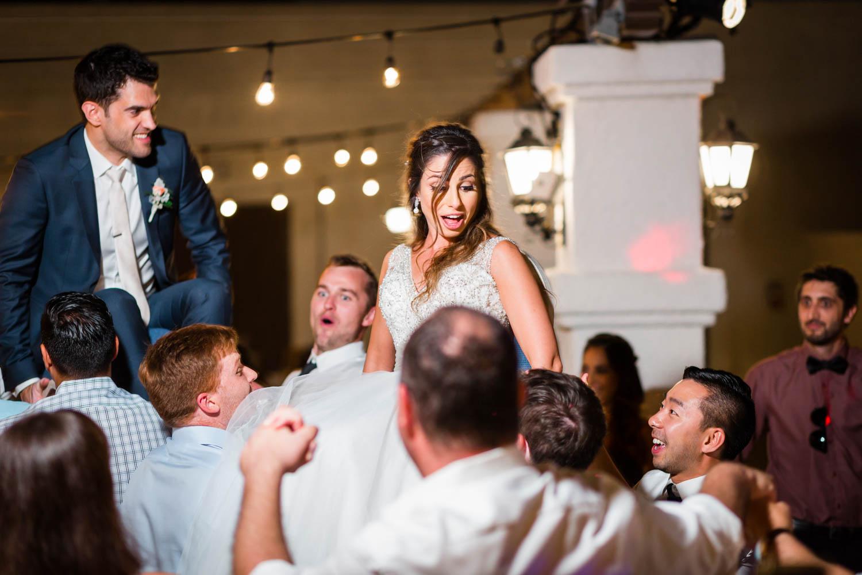 Wedding reception hora at the Omni Rancho Las Palmas in Rancho Mirage Palm Springs, Cavin Elizabeth Photography