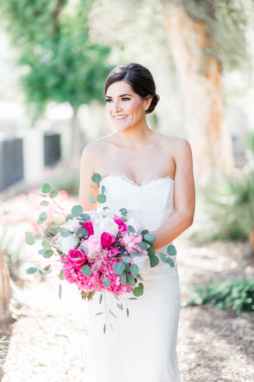 Bridal portrait for a Vibrant Winter Wedding at Omni Rancho Las Palmas, Cavin Elizabeth Photography