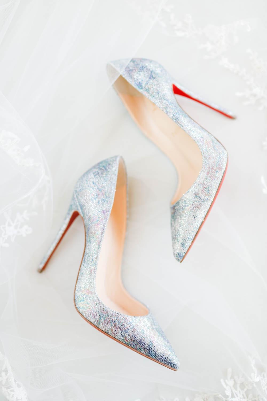 Glitter Louboutin heels, Vibrant Winter Wedding at Omni Rancho Las Palmas, Cavin Elizabeth Photography