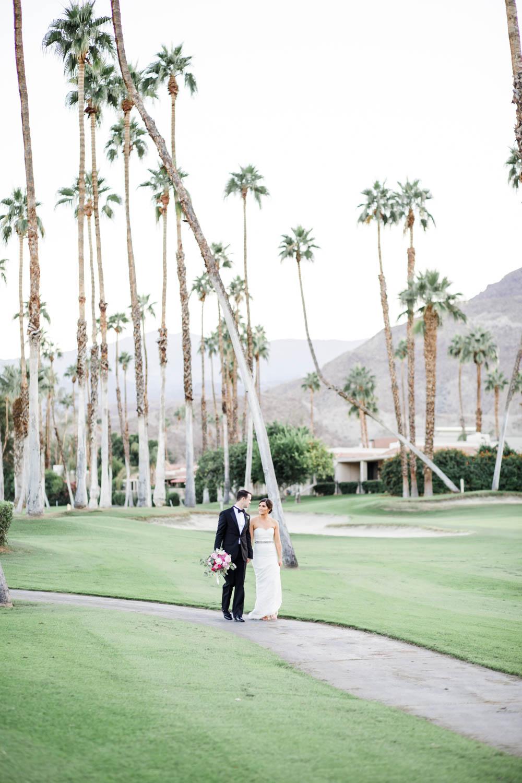Bride and groom portrait at Omni Rancho Las Palmas, Cavin Elizabeth Photography