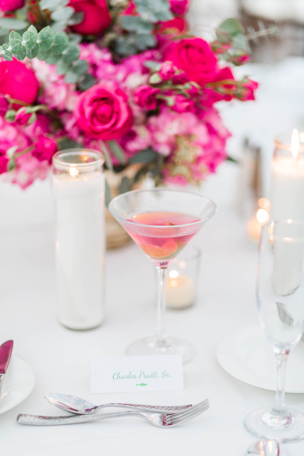 White green pink and purple wedding reception at the Omni Rancho Las Palmas, Cavin Elizabeth Photography