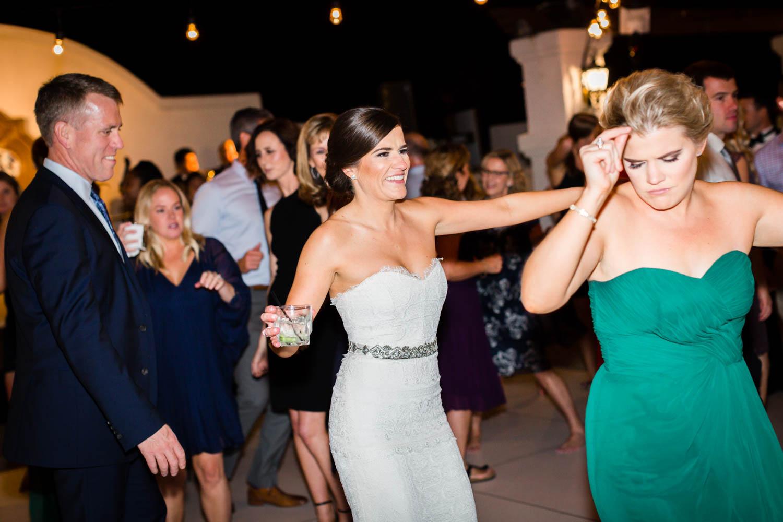 Reception dancing at Omni Rancho Las Palmas wedding, Cavin Elizabeth Photography