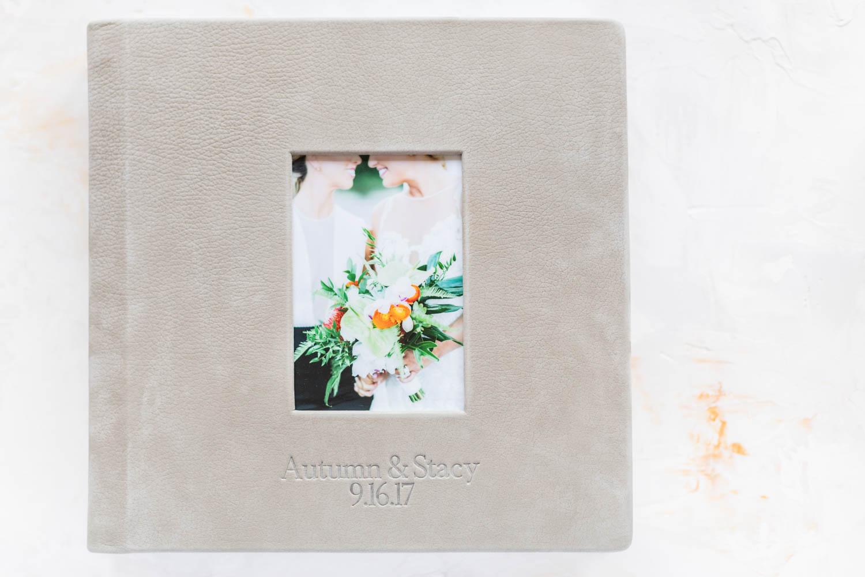 Light Grey Wedding Albums from Cavin Elizabeth Photography