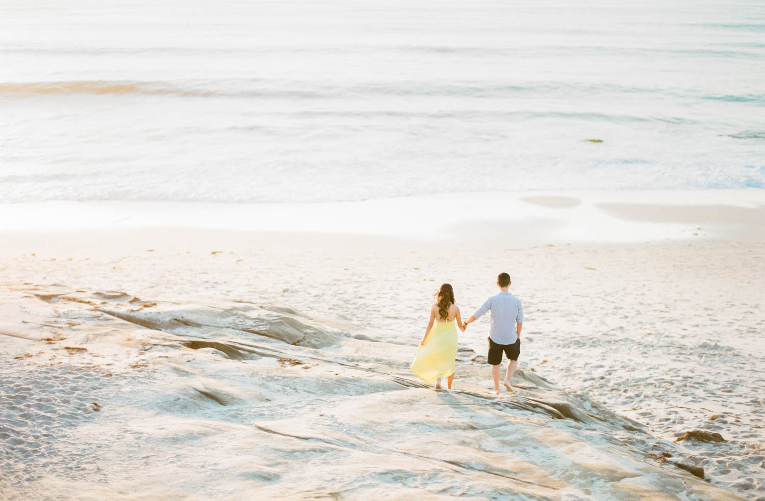 Romantic Windansea Engagement Photos in La Jolla, Cavin Elizabeth Photography