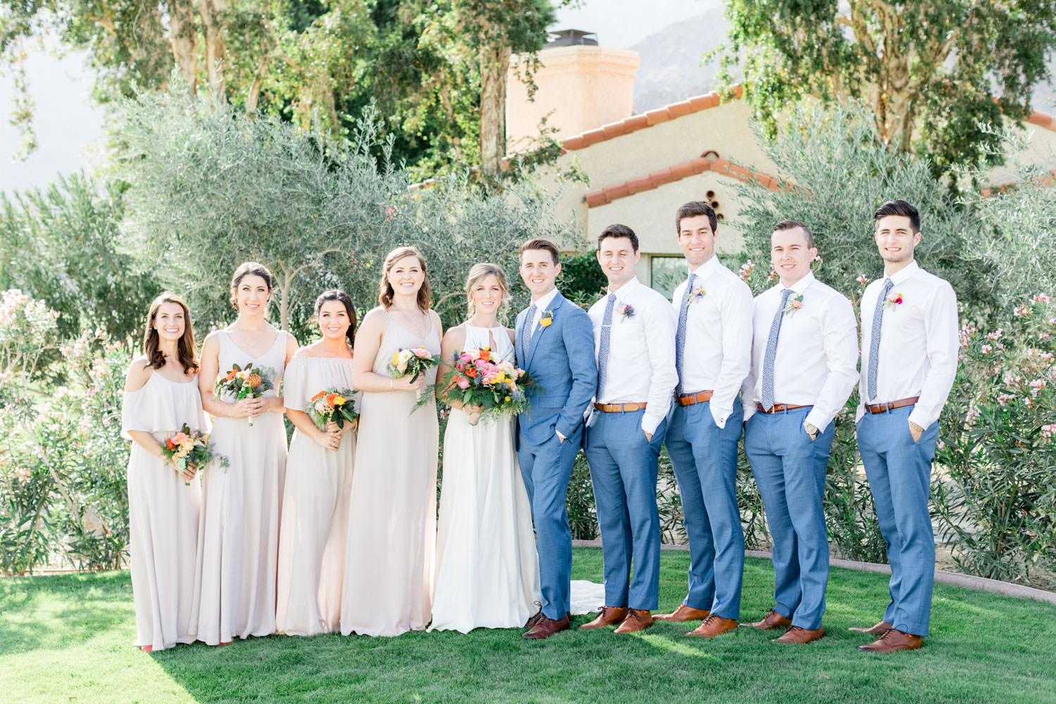 Bridal party at La Quinta Resort in Palm Springs, Cavin Elizabeth Photography