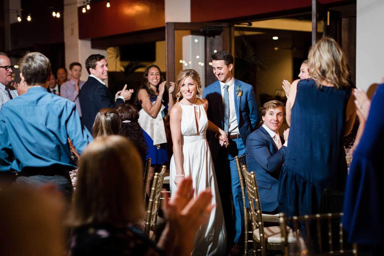 Bride and groom grand entrance, La Quinta Resort wedding, Cavin Elizabeth Photography