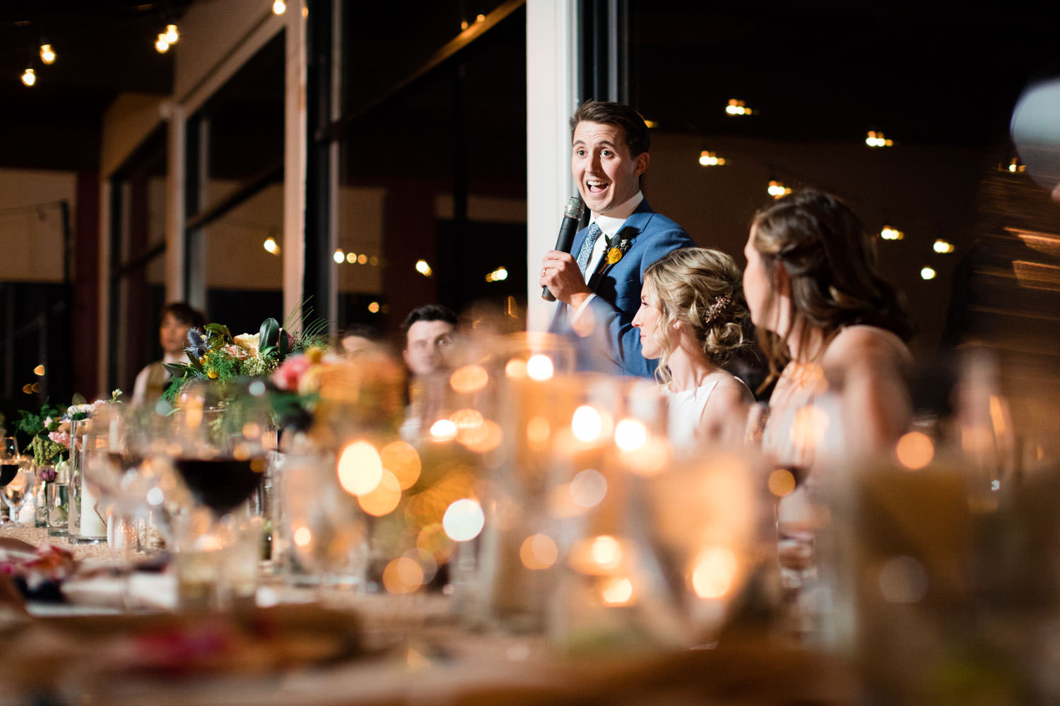 Groom speech, La Quinta Resort wedding, Cavin Elizabeth Photography