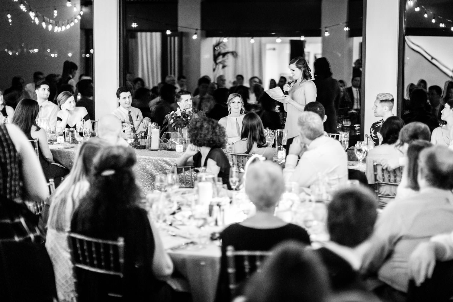 Black and white toasts, La Quinta Resort wedding, Cavin Elizabeth Photography