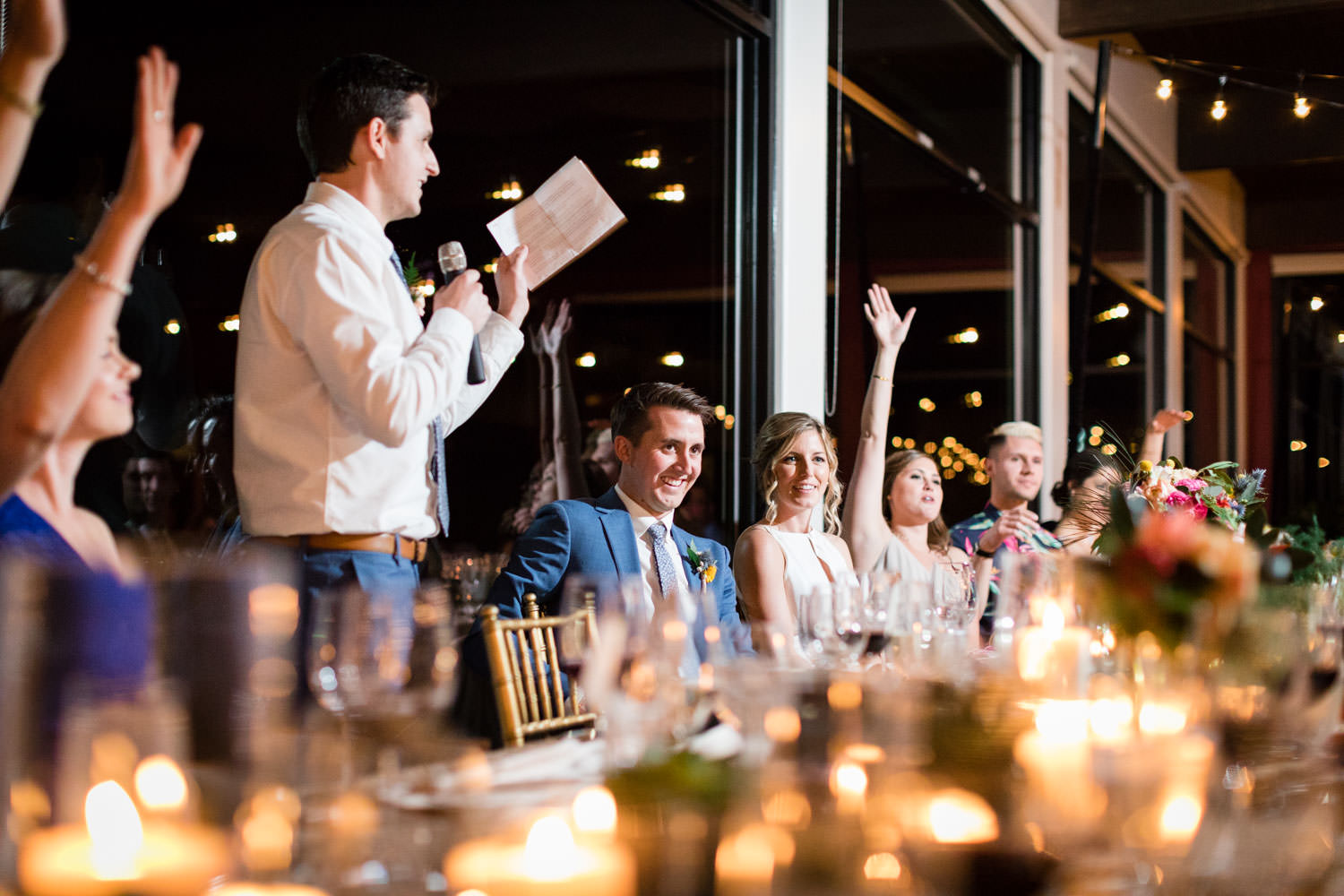 Best man speech toast, La Quinta Resort wedding, Cavin Elizabeth Photography