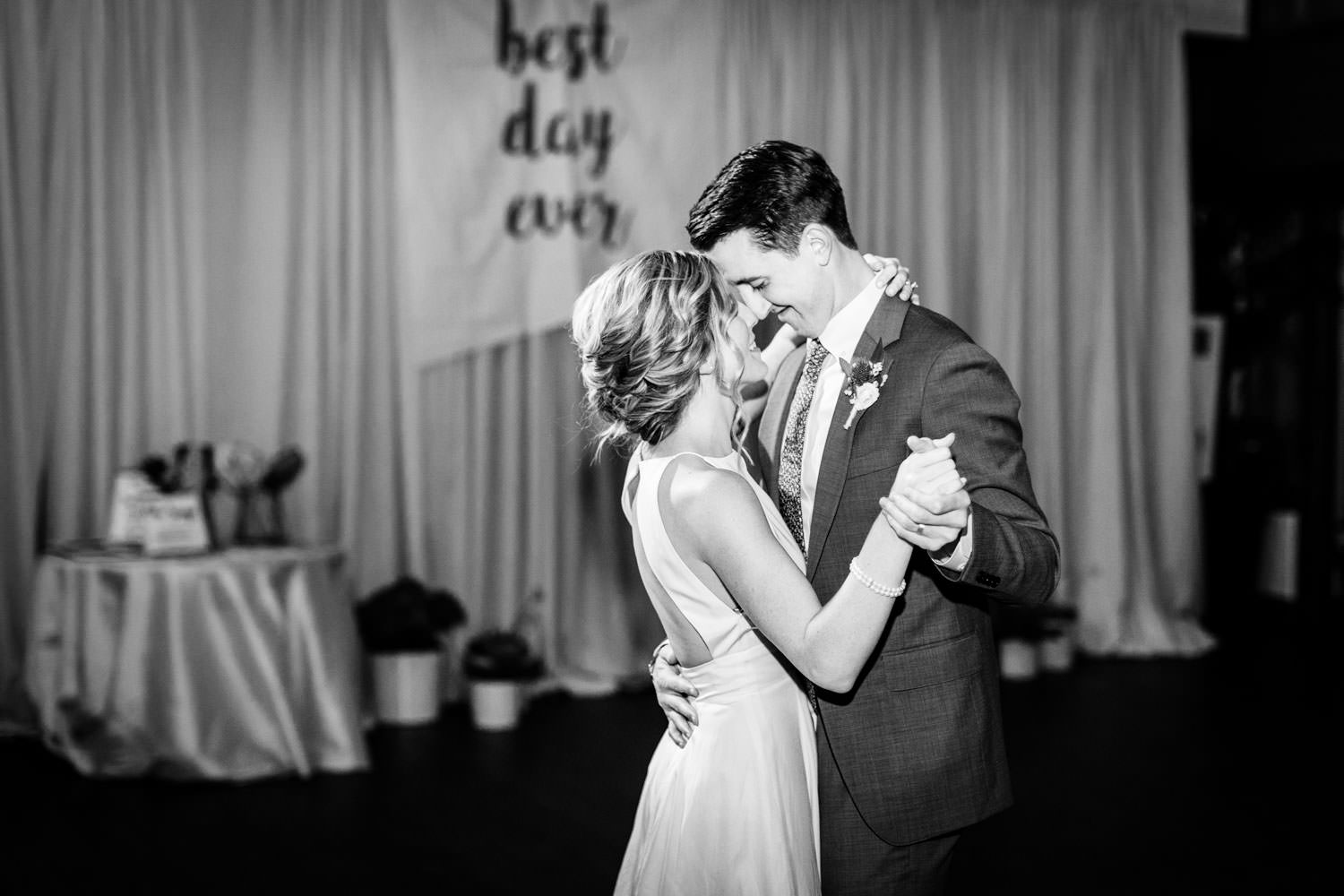 Bride and groom first dance, La Quinta Resort wedding, Cavin Elizabeth Photography