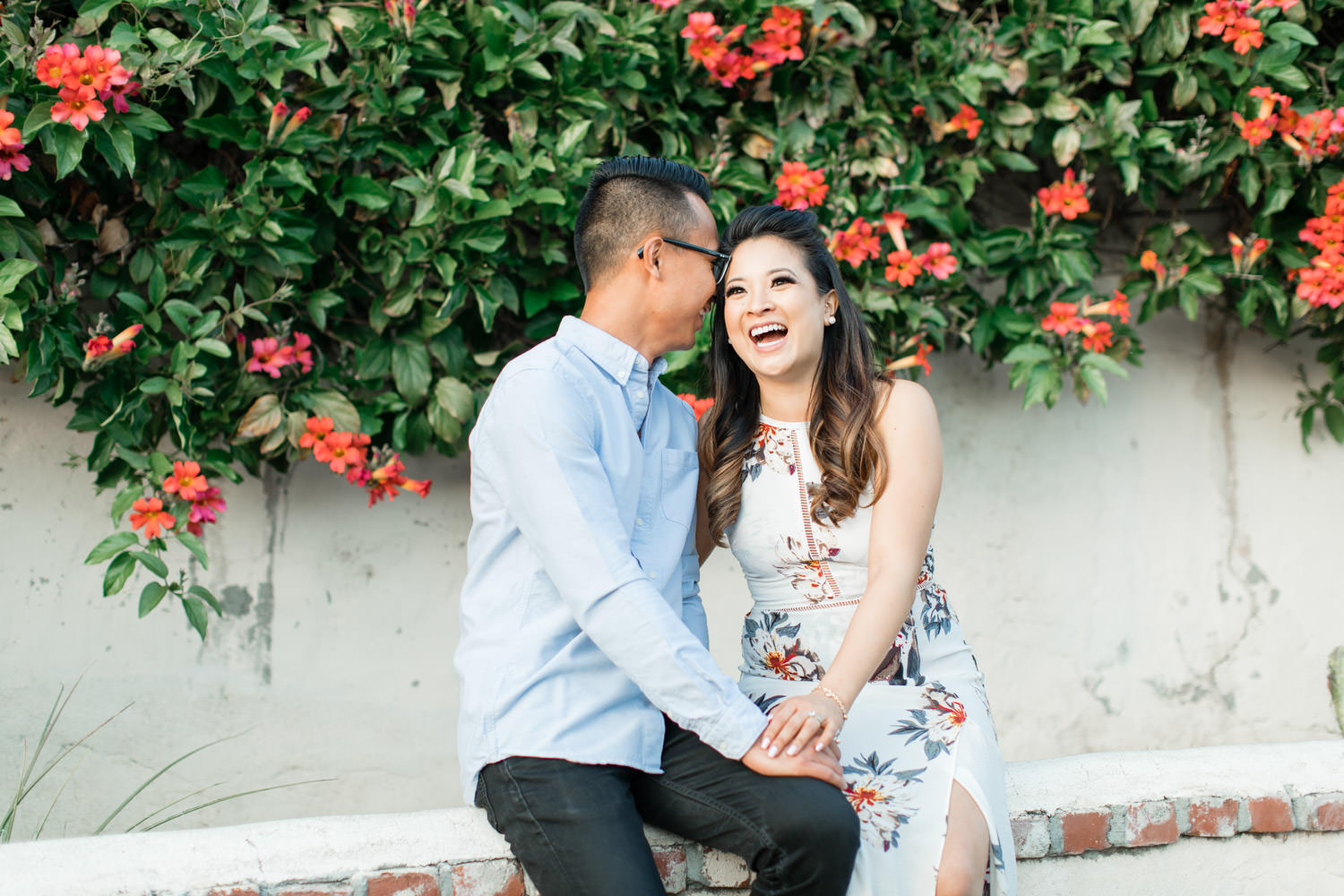 Adorable engagement session photos outside of the Mission San Juan Capistrano, Cavin Elizabeth Photography
