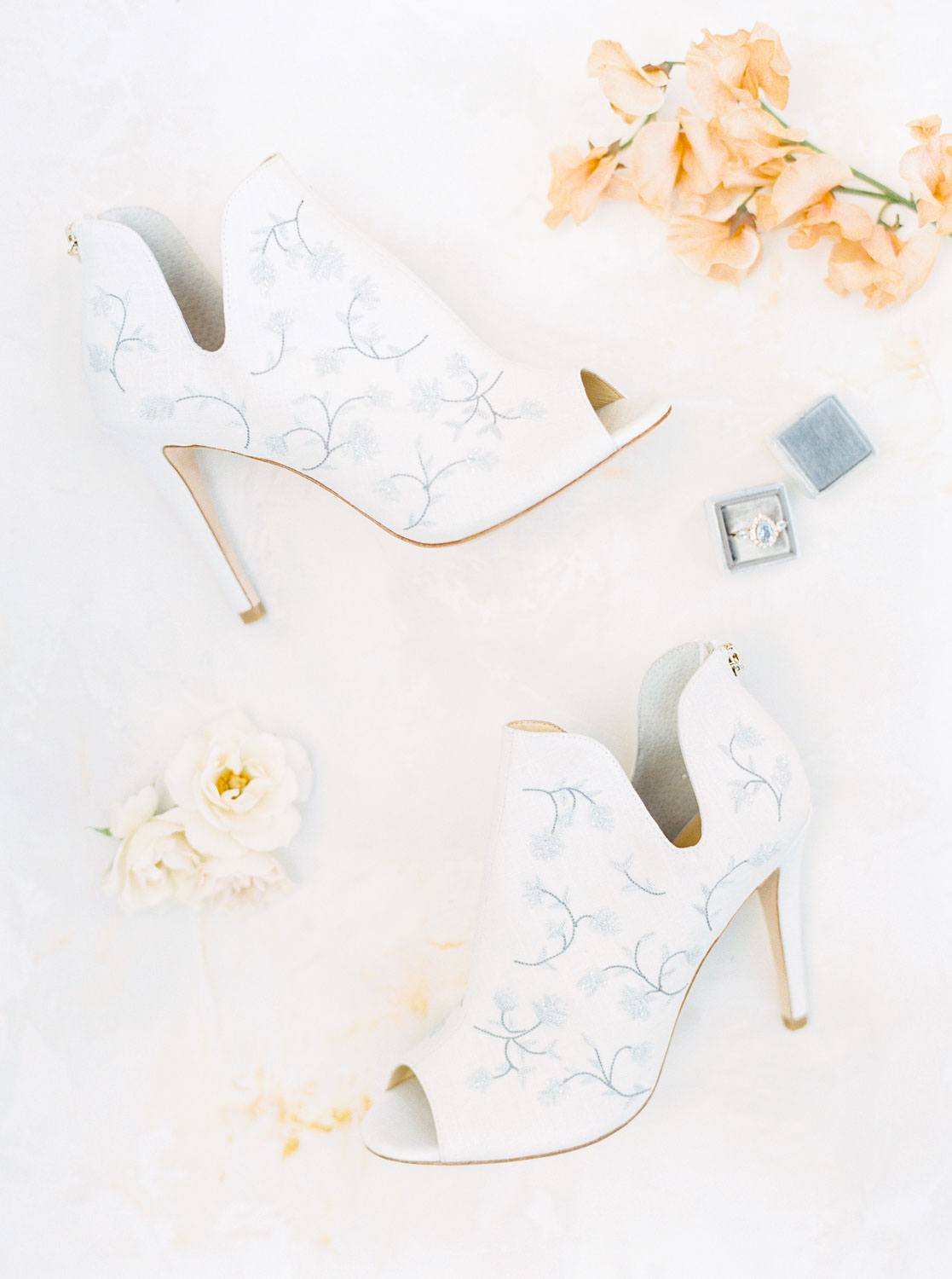 Joy Proctor Bella Belle Shoes French blue booties, Fairmont Grand Del Mar Wedding by Cavin Elizabeth Photography