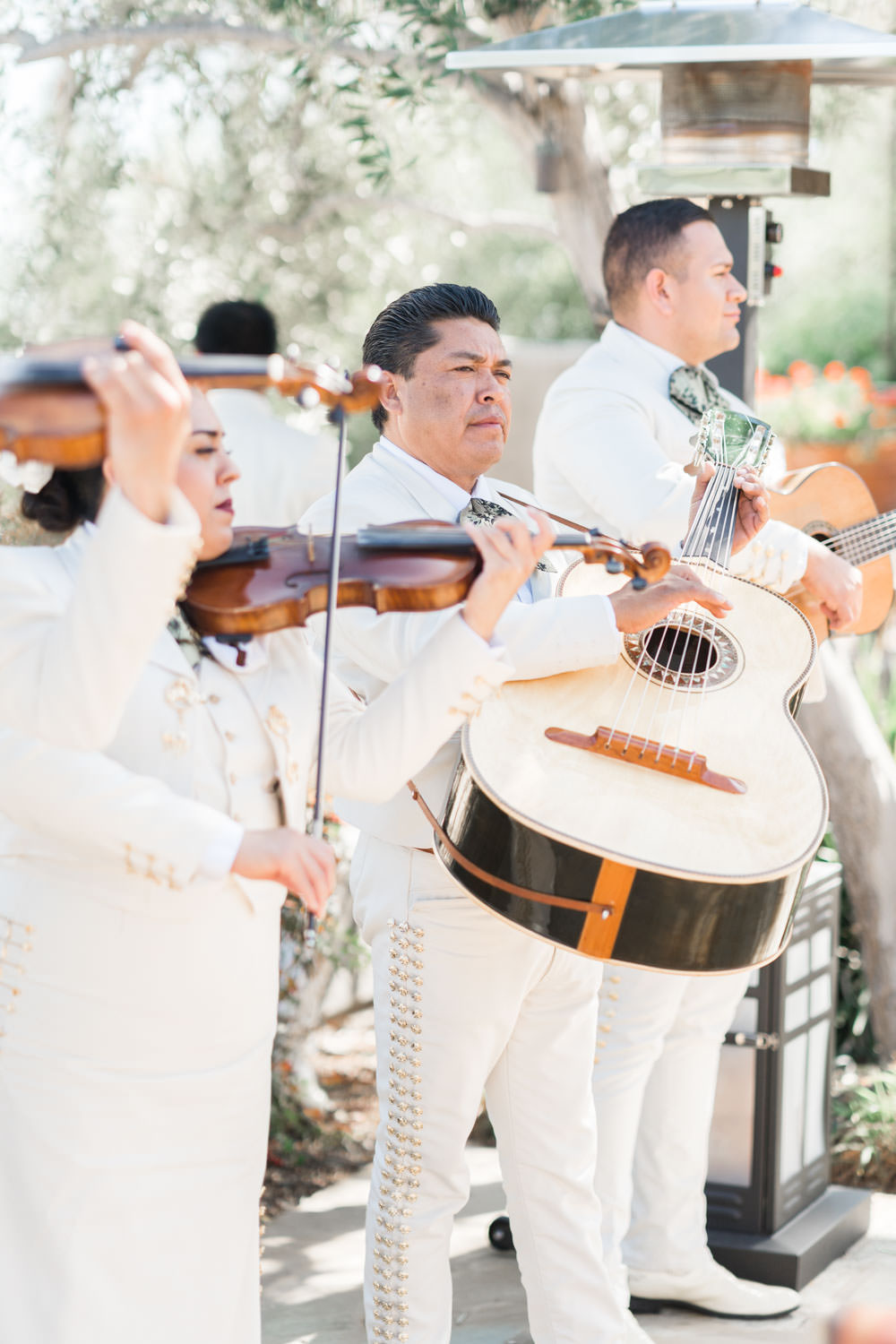 Mariachi band at wedding cocktail hour on Cinco de Mayo, Cavin Elizabeth Photography